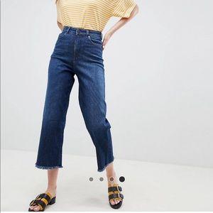 ASOS wide leg jean with textured stripe